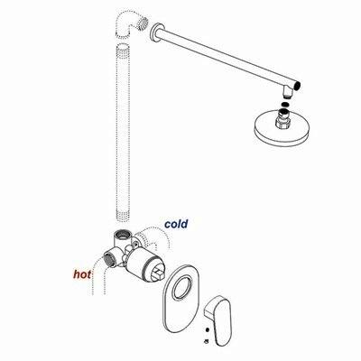 Схема монтажа смесителя для